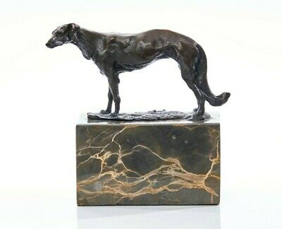 Bronze Sculpture Of A Greyhound On A Solid Marble Plinth. Art, Gift Ornament. • 125£