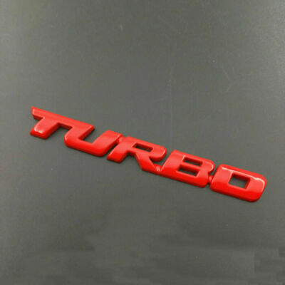 3D TURBO Letter Sticker Metal Emblem Badge Auto Car Styling Decal Logo Red NEW • 4.99£