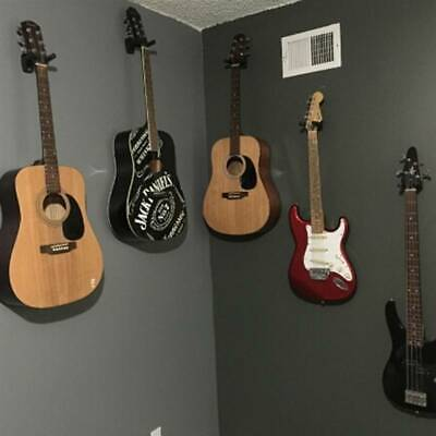 $ CDN3.63 • Buy Guitar Wall Mount Wood Hanger Holder Manual Auto Lock Hook Stand Hanging Rack LP
