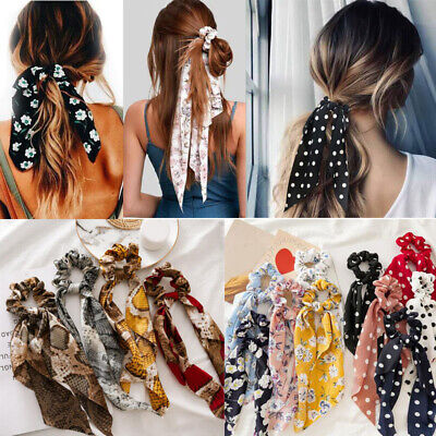 $ CDN2.37 • Buy Bowknot Scrunchies Elastic Hair Bands Fashion Hair Accessories For Women Girls @