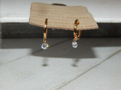 $ CDN35.13 • Buy Earrings Anthropologie Hoop Dangle Rhinestone Tiny Delicate Mini New Post $38