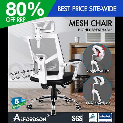 AU179.90 • Buy ALFORDSON Mesh Office Chair Gaming Executive Fabric Seat Racing Footrest Recline