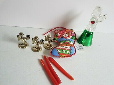 $ CDN14.24 • Buy  Christmas Decoration Vintage Lot Hallmark Tree Ornament Angel Bell Mini Candles