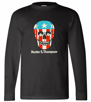 $21.50 • Buy New Hunter S. Thompson Skull Logo Long Sleeve Black T-shirt Size S-3XL
