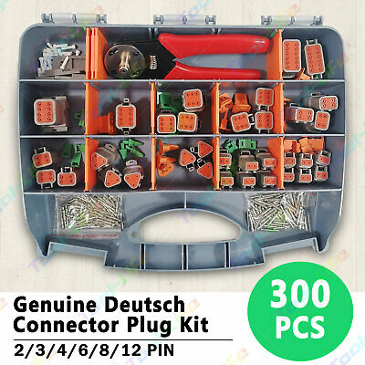 AU132.89 • Buy OZ Deutsch DT Connector Plug Kit 300pcs With Crimp Tool Automotive #DT-KIT3-TR