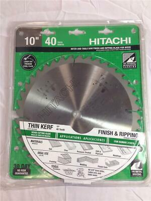NEW Hitachi 10  Miter And Table Saw Finish And Ripping Blade 40 Tooth Blade • 46.40£