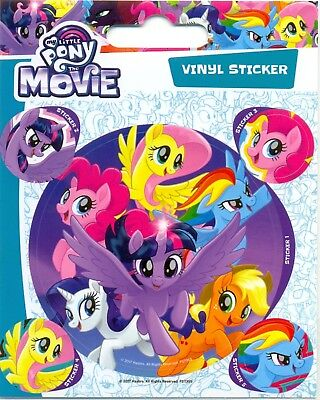My Little Pony The Movie Rainbow Dash 5 Vinyl Stickers Pack Official Carded • 1.99£