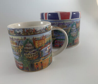 "James Sadler City Of London Mug/Cup In Gift Tin ""NEW"" • 10£"