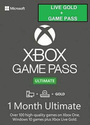 $ CDN6.42 • Buy Xbox Live 1 Month Gold & Game Pass Ultimate (2 X 14 Day Pass) - INSTANT DELIVERY