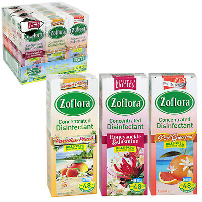 Limited Edition 120ml ZOFLORA CONCENTRATED ANTIBACTERIAL Disinfectant 3 Pack • 7.95£