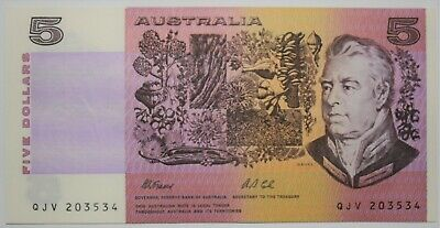 AU35 • Buy 1991 Australian Fraser Cole $5 Banknote With 'Q' - PIL