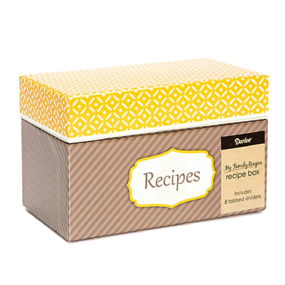 Family Recipe Card Box With 8 Tabbed Dividers + 40 Matching Recipe Cards • 5.85£