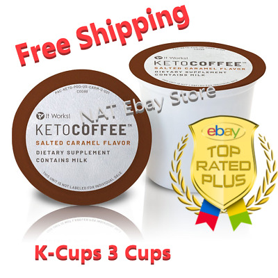 $14.99 • Buy It Works Keto Coffee Pods Salted Caramel Flavor Exp 07/2021 K-Cups 3 Cups