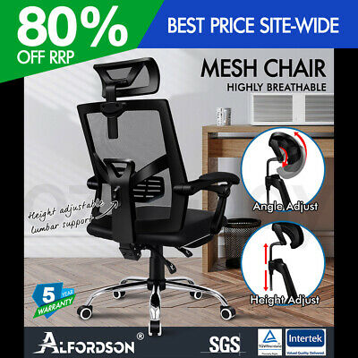 AU169.90 • Buy ALFORDSON Mesh Office Chair Gaming Executive Fabric Seat Racing Footrest Recline