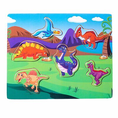 $ CDN9.19 • Buy Eliiti Wooden Dinosaurs Puzzle For Toddlers 2 To 4 Years Old Boys Girls Toy