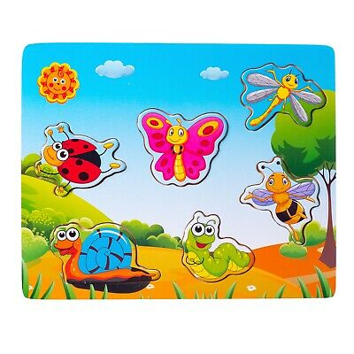 $ CDN9.19 • Buy Eliiti Wooden Insects Puzzle For Toddlers Kids 2 To 4 Years Old Boys Girls Toy