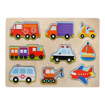 $ CDN9.54 • Buy Eliiti Wooden Vehicles Puzzle For Toddlers 2 To 4 Years Old Boys Toy