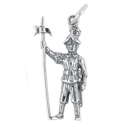£16.51 • Buy Swiss Guard Soldier Vatican Catholic Rome 3D 925 Sterling Silver Charm Italy