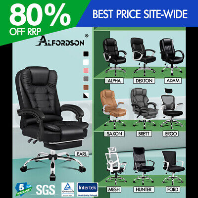 AU169.90 • Buy ALFORDSON Office Chair Mesh Executive Gaming Seat Leather Fabric Racing Tilt