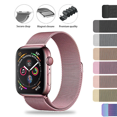 AU9.48 • Buy Apple Watch Band Series 6 SE 5 4 3 2 Stainless Steel Milanese Strap 44 40 38 42