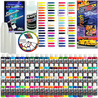 £260.75 • Buy Createx DELUXE ALL 80 COLORS SET 2oz Airbrush Hobby OPAQUE TRANSPARENT Paint