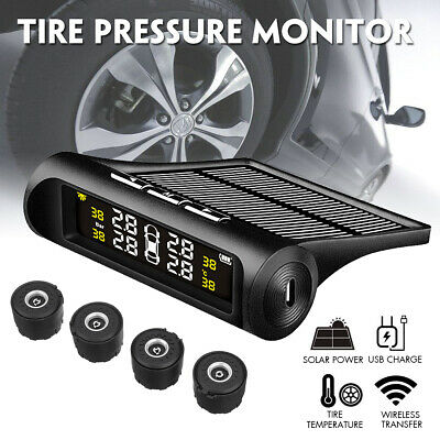 AU42.56 • Buy Solar Wireless TPMS Car Tire Tyre Pressure Monitor Monitoring System + 4  AU AU