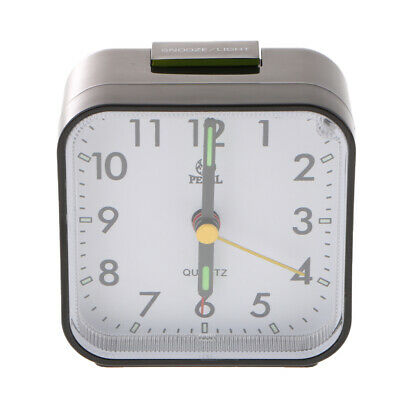 AU14.47 • Buy Small Travel Alarm Clock Analog Quartz Alarm Clock For Bedside Nightstand