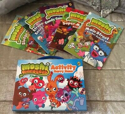 MOSHI MONSTERS Activity Carry Case Sticker Books X 5 STAY AT HOME LOCKDOWN FUN🌈 • 6£