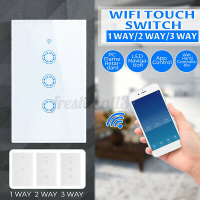 AU29.99 • Buy 1100W Smart WiFi Touch Light Wall Switch Panel For Alexa Google APP 1/2/3 Gang
