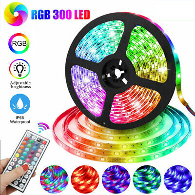 $13.99 • Buy Waterproof Flexible Strip Light RGB LED SMD Remote Fairy Lights Room Party Bar #