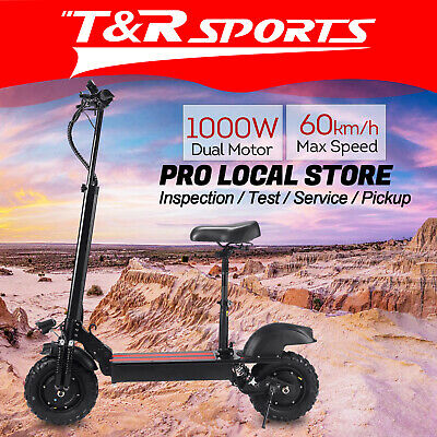 AU899.99 • Buy AKEZ Dual Motors * 1000W Extreme Off Road Electric Scooter W/ Seat Motorised