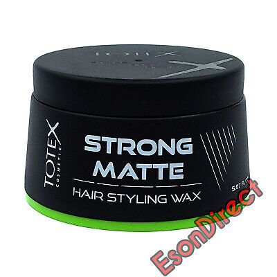 NEW FORMULA Totex Cosmetic Strong Matte Hair Styling Wax 150ml *FREE P&P* • 7.29£
