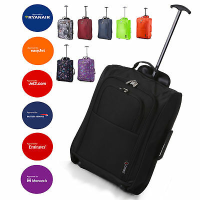 £17.99 • Buy Lightweight Small 21  Wheeled Hand Luggage Trolley Cabin Bag Flight Bag Suitcase