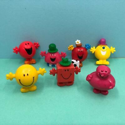 Vintage Roger Hargreaves Mr Men Pencil Toppers X 7 Toy Figures Collection 1990s • 12.99£