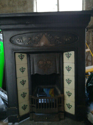 Victorian Cast Iron Fireplace With Real Flame Coal Effect Gas Fire • 350£