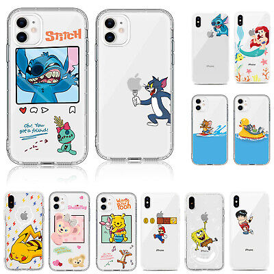 Cartoon Stitch Shockproof Soft Phone Case Cover For IPhone 11 Pro Max XR 7 Plus • 2.99£