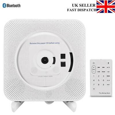 Wall Mounted CD Player FM Radio Bluetooth Stereo Remote Control MP3 Music Player • 38.69£