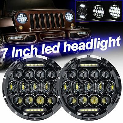 AU80.85 • Buy 2X 7 Inch 13LED Headlights Hi/Lo Beam DRL Work Light Lamp For Chevy C10 Camaro
