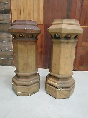 Pair Of Reclaimed Buff Yellow Clay Chimney Pots • 600£