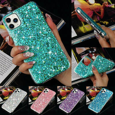 AU11.98 • Buy For IPhone 11 Pro Max 6 7 X XS XR Women Bling Glitter Shockproof Back Case Cover