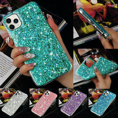 AU12.28 • Buy For IPhone 11 Pro Max 6 7 X XS XR Women Bling Glitter Shockproof Back Case Cover
