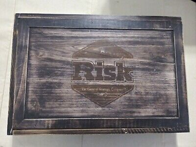 $69.95 • Buy Risk Board Game Exclusive Rustic Wooden Box Wood Strategy Conquest New Open Box
