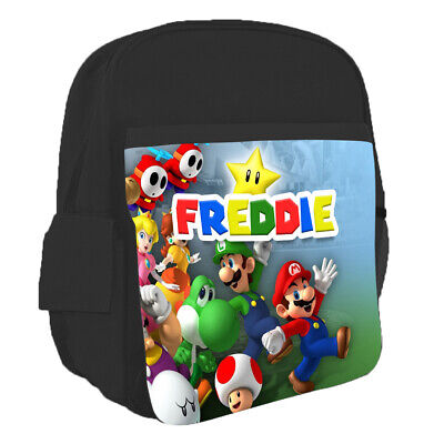 Personalised Any Name Kids Backpack Super Mario Design Childrens School Bag 9 • 16.95£