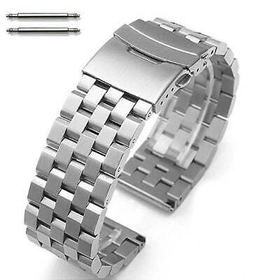 Stainless Steel Metal Watch Band Strap Bracelet Double Locking Buckle #5051 • 19.50£