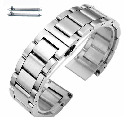 Stainless Steel Brushed Metal Replacement Watch Band Strap Butterfly Clasp #5071 • 11.54£