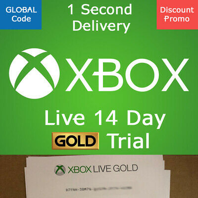 $ CDN2.90 • Buy Xbox Live 14 Day Gold Trial + GAME PASS Ultimate - 2 Weeks Xbox One PC PROMOTION