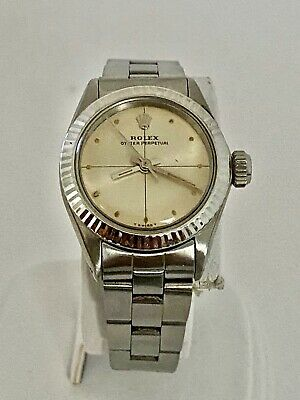 $ CDN1969.97 • Buy Rolex 6618 White Gold Bezel Vintage Ladies Watch Automatic With Oyster Bracelet