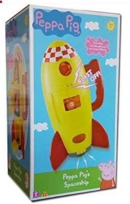 New Peppa Pig SPACE SHIP & Peppa Figure Playset Toy George BRAND NEW ROCKET • 23.99£