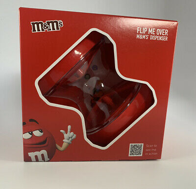 M&M's Flip Me Over Dispensers Red Chocolate Sweet Gift Reusable • 6.10£
