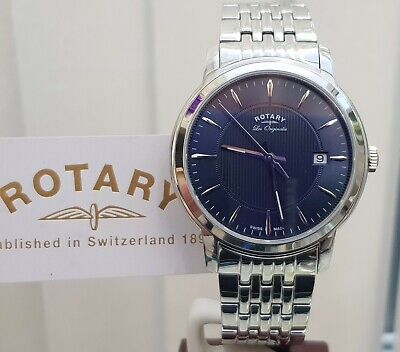 £119 • Buy NEW Rotary SWISS MADE Les Originales Mens Watch BLUE,Sapphire RRP£250 Ideal GIFT